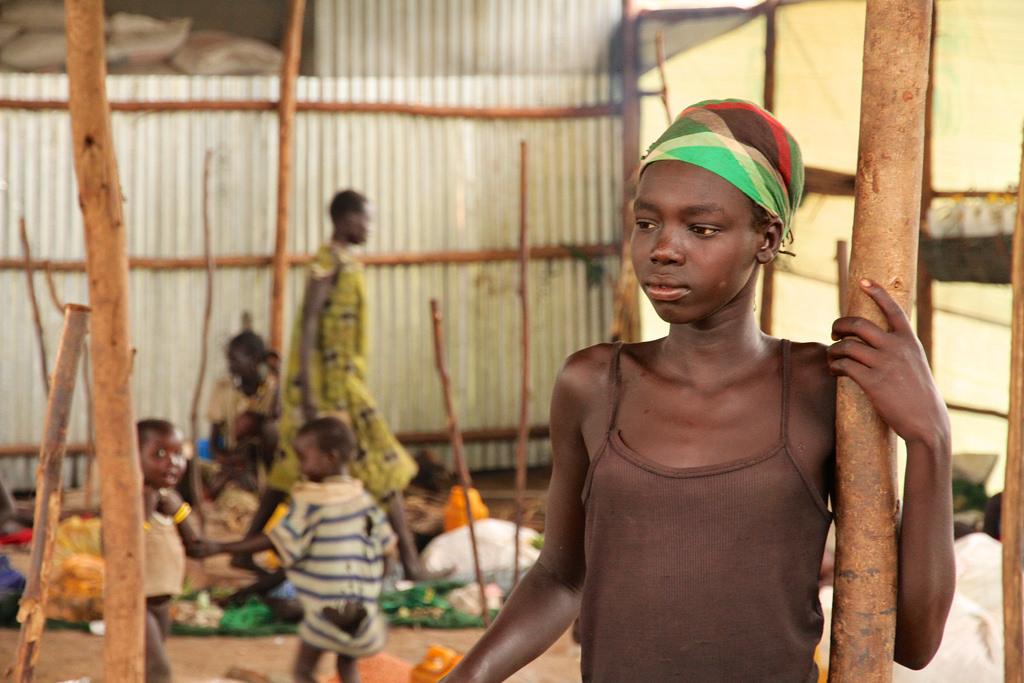 Mädchen in Flüchtlingslager