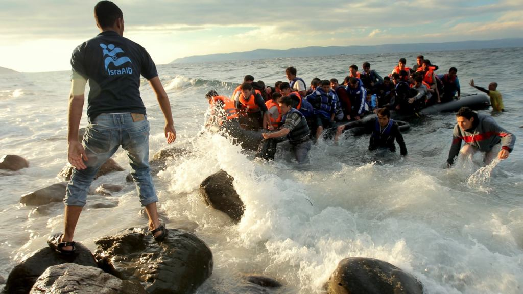 Syrische Flüchtlinge erreichen Lesbos